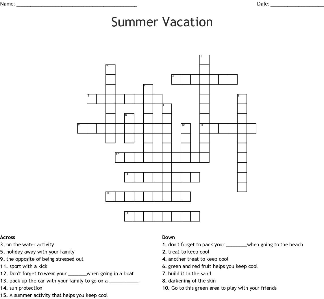 Family Vacation Crossword