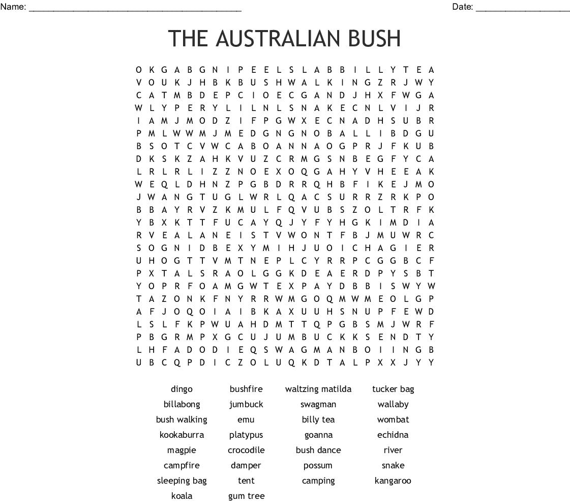 Australian Birds Word Search