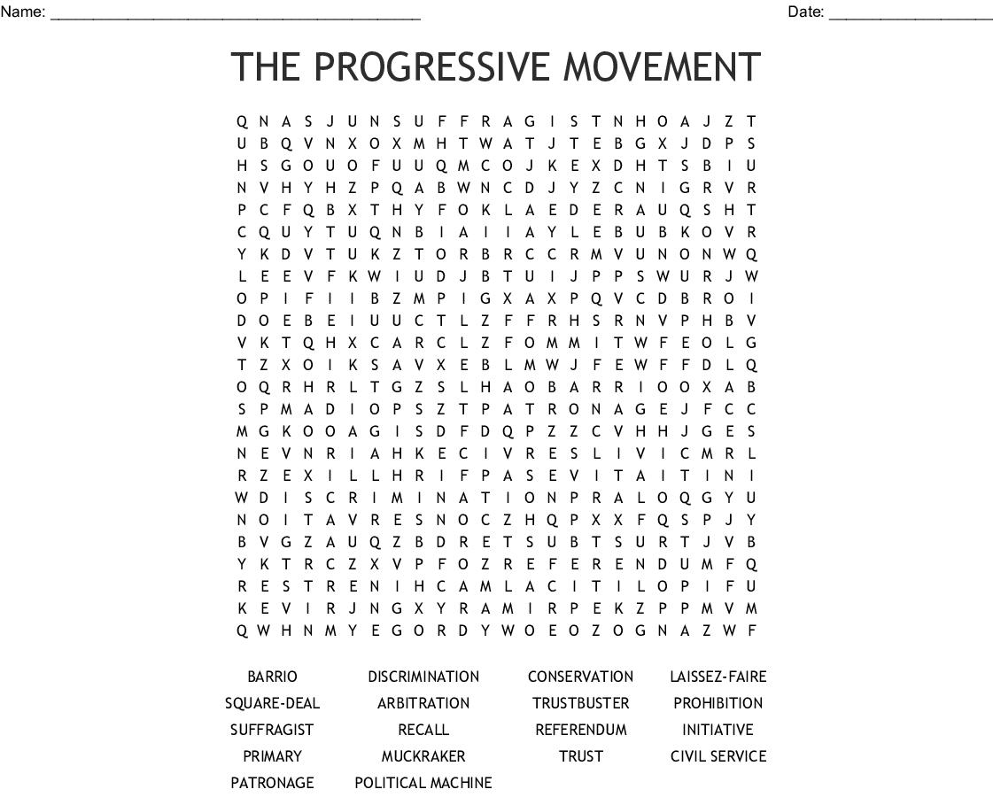 Progressive Era Muckrakers Worksheet Answers