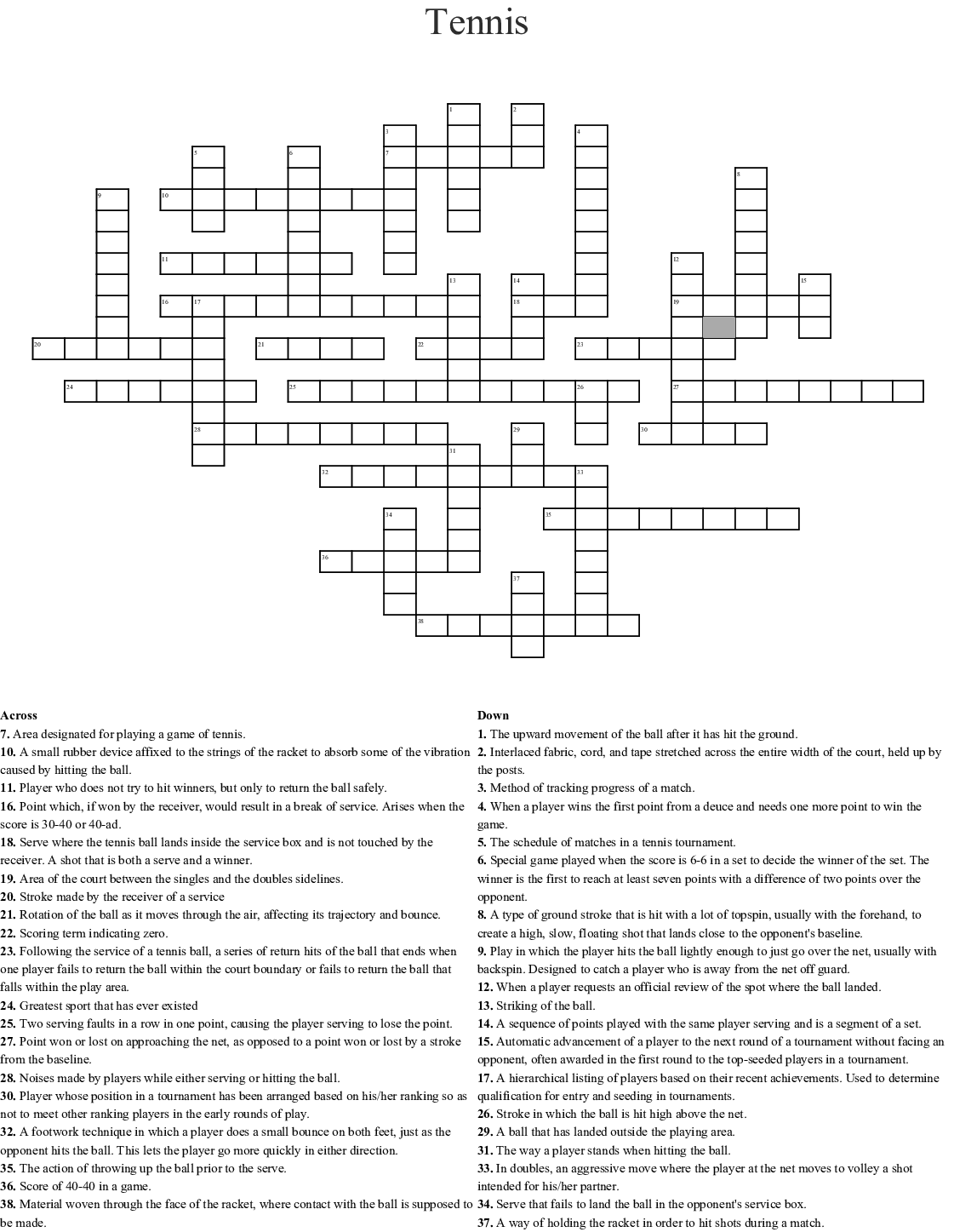 Fun With Badminton Word Search