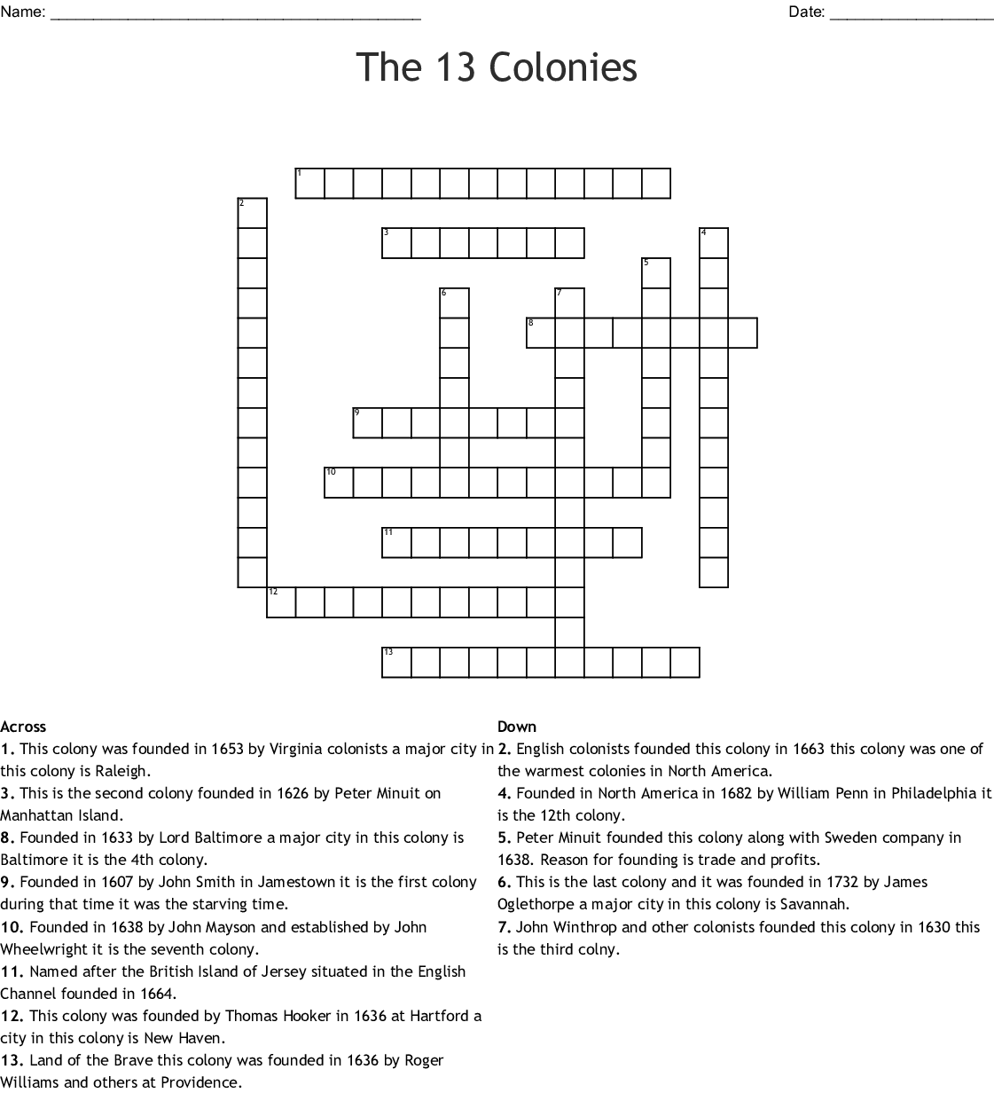 Crossword Puzzles With Answers In English