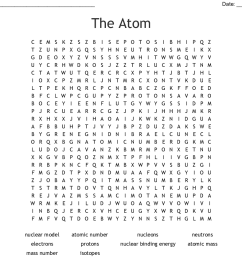 the atom word search [ 1121 x 840 Pixel ]
