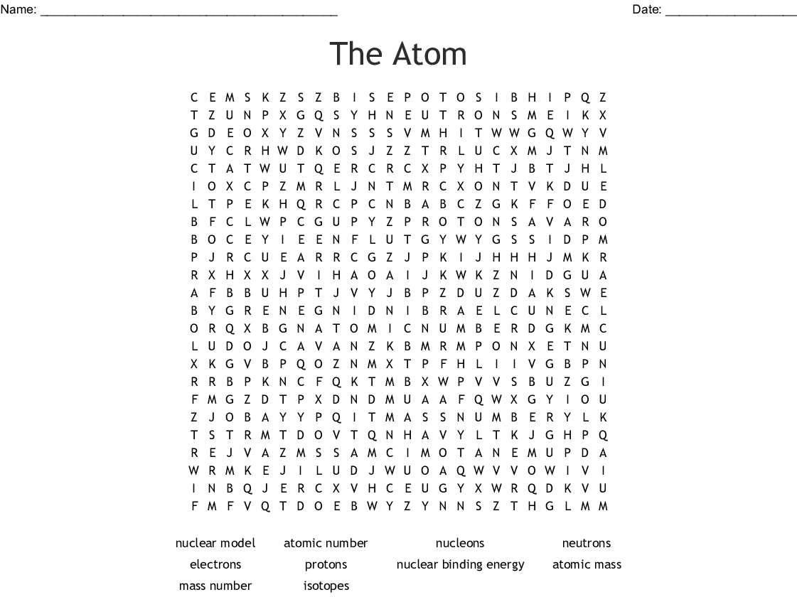 hight resolution of the atom word search