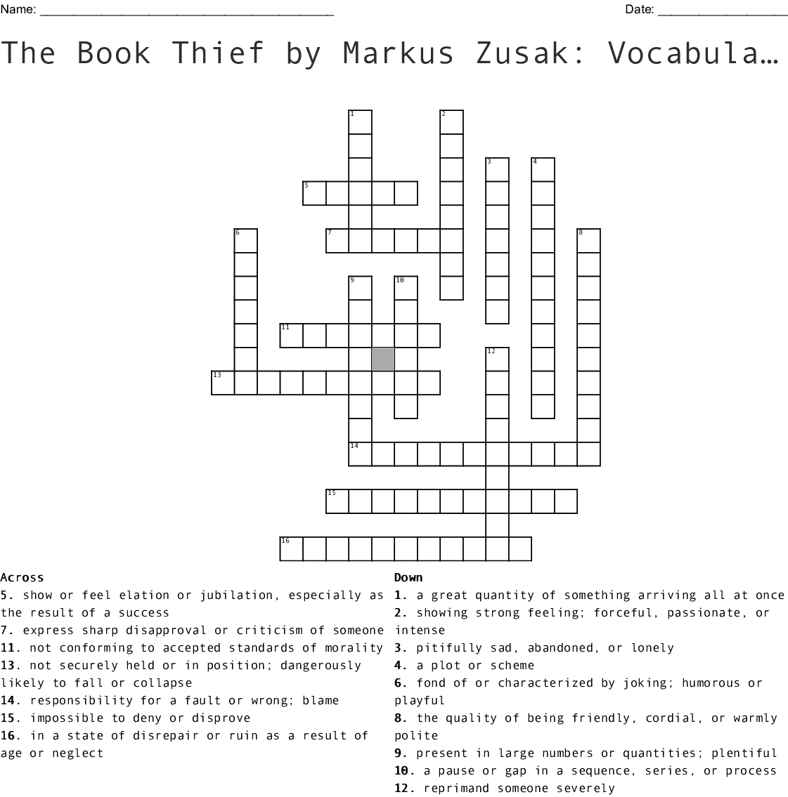 Lord Of The Flies Chapters 7 12 Collin Mchugh Crossword