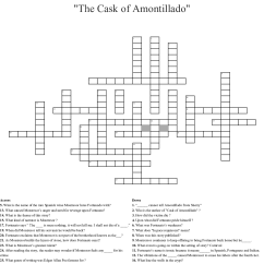 The Cask Of Amontillado Story Diagram Faria Marine Tachometer Wiring Crossword Wordmint