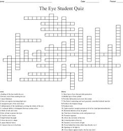 the eye student quiz [ 1121 x 1172 Pixel ]