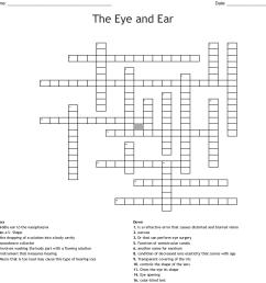 the eye and ear crossword [ 1121 x 1137 Pixel ]