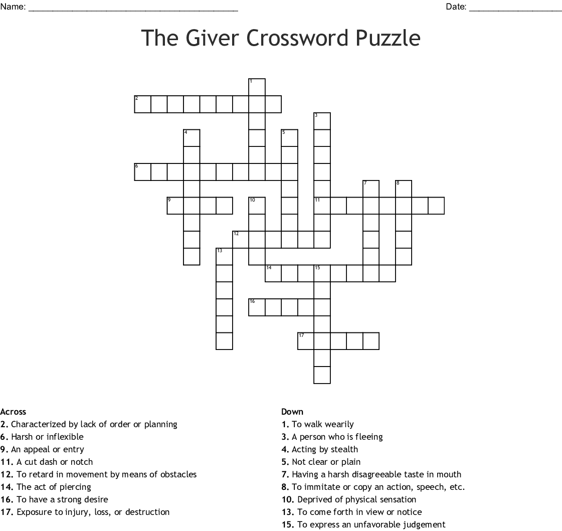 Great Expectations Crossword