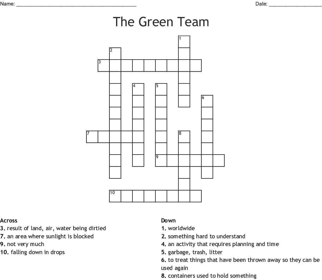 The Green Team Crossword