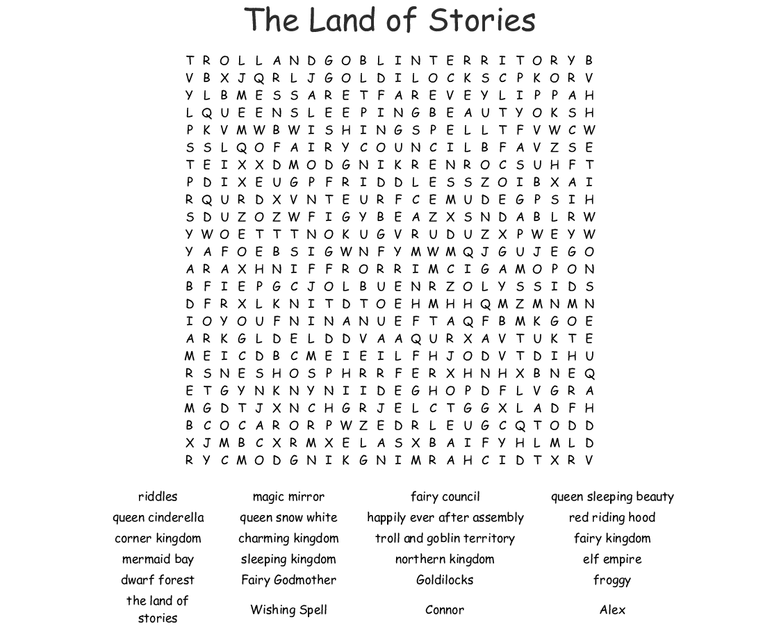 Rainbow Magic Word Search
