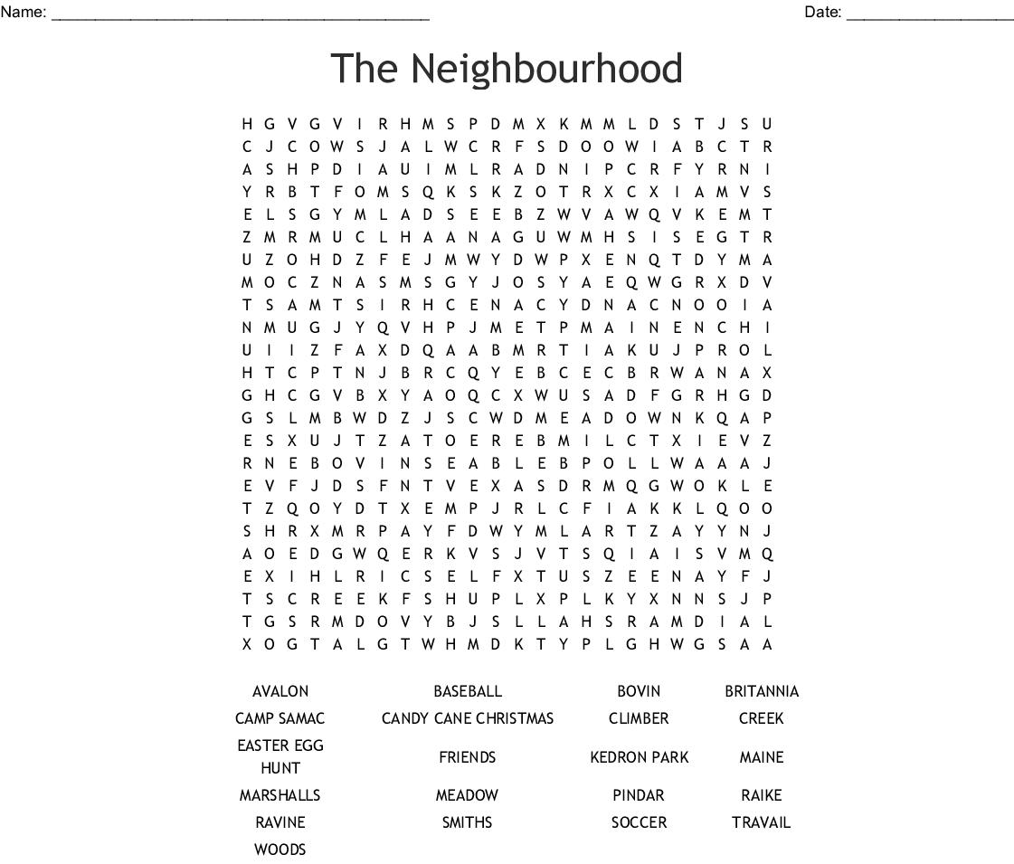 The Neighbourhood Word Search