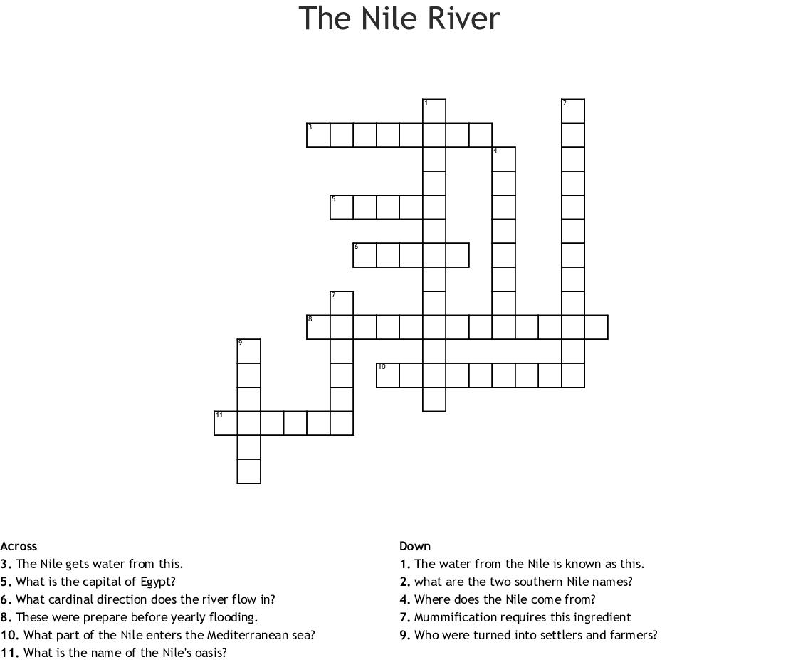 Egypt Section 1 Nick W Crossword