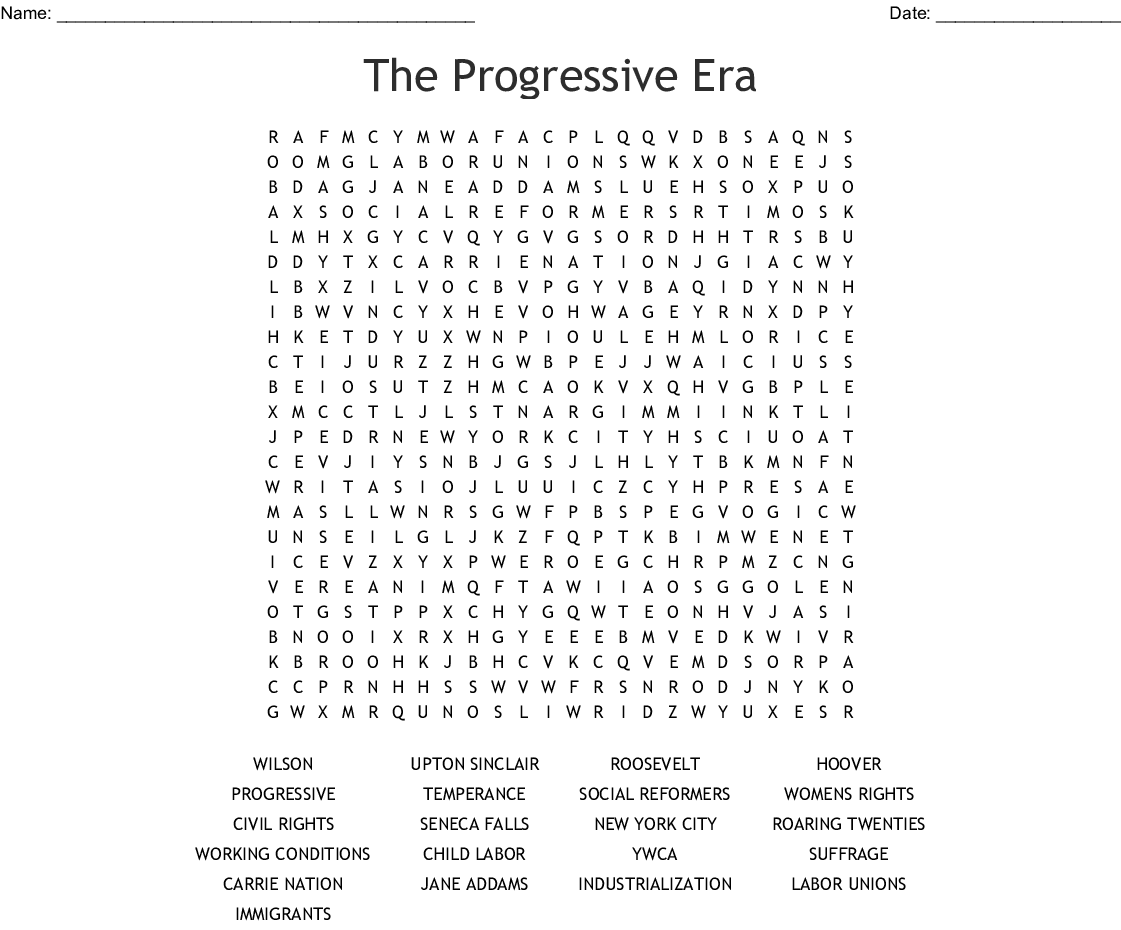 Reforms Of The Progressive Movement Worksheet Answers