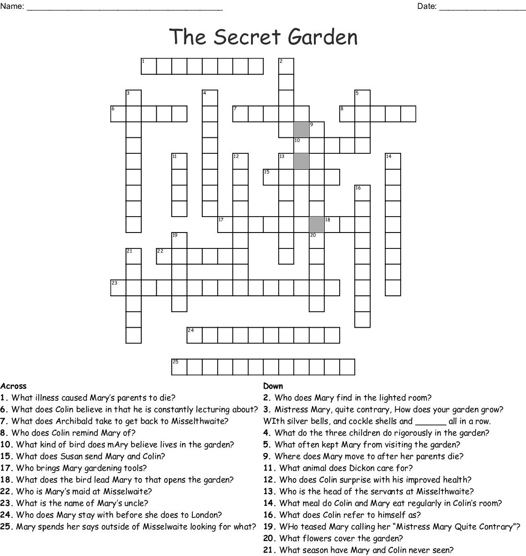 The Secret Garden Word Search