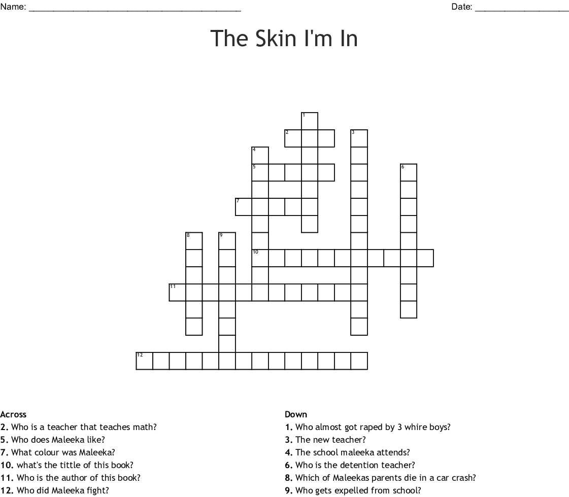 The Skin I M In Crossword Puzzle