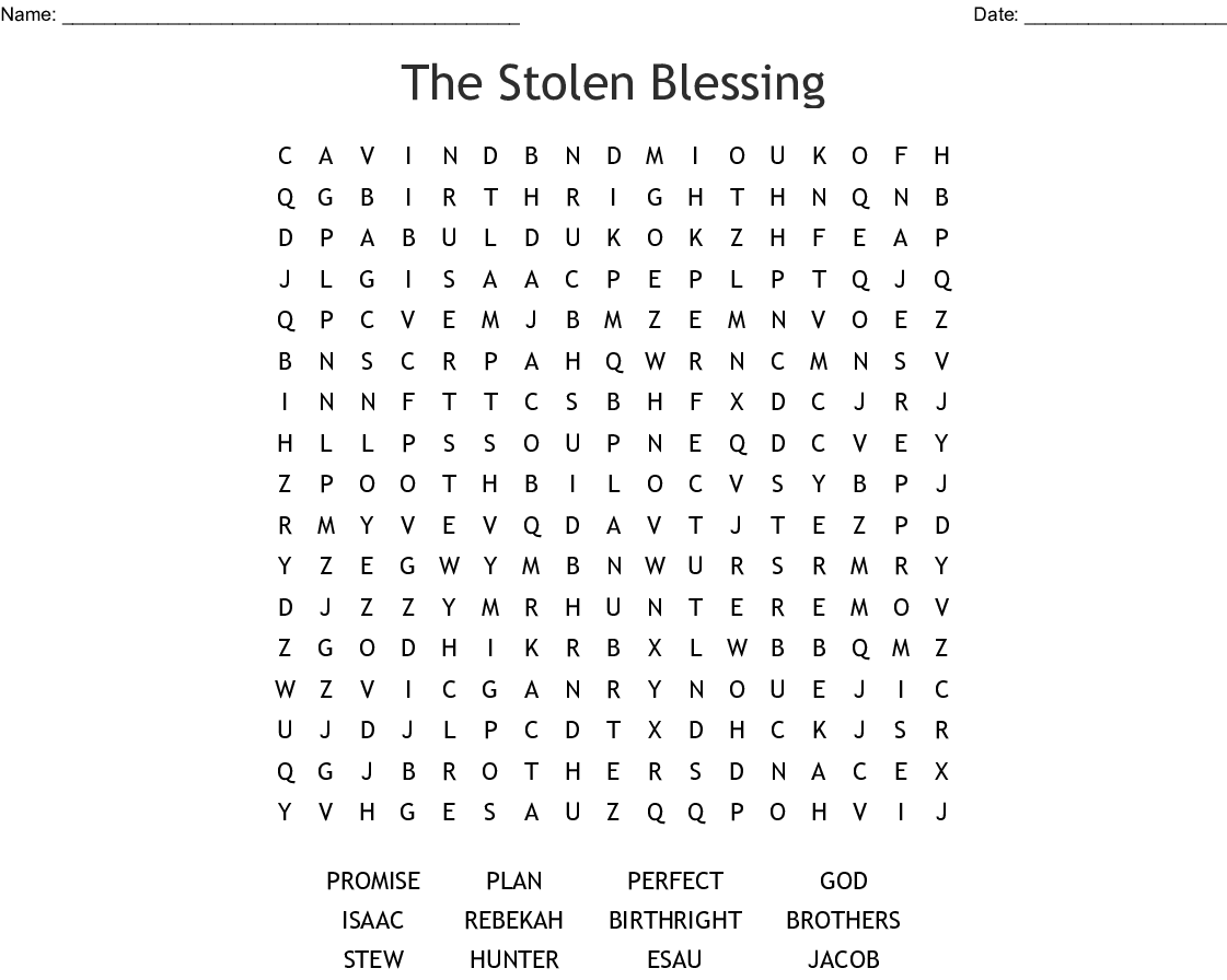 The Story Of Jacob And Esau Crossword