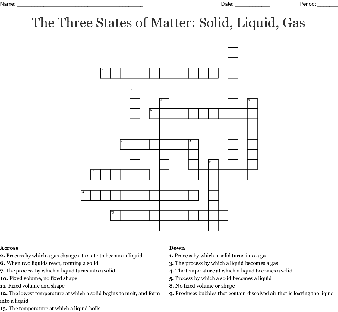 Matter Crossword