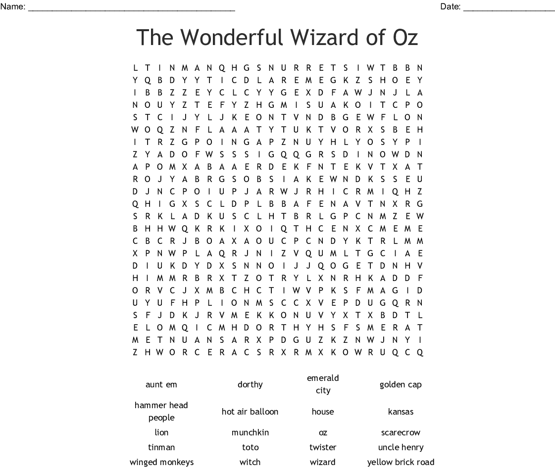 Entertainment In The S Word Search