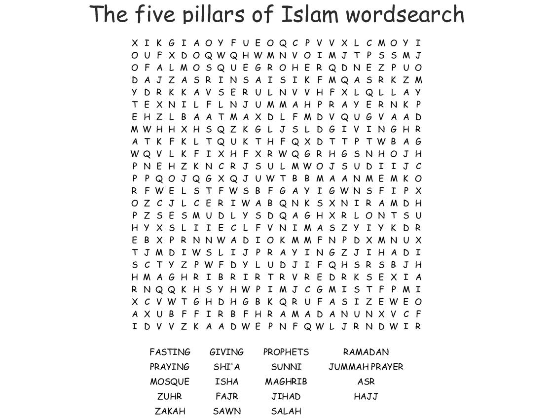 Ramadan Wordsearch