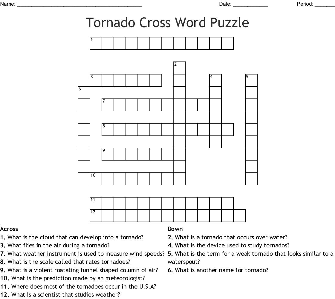 Tornado Cross Word Puzzle