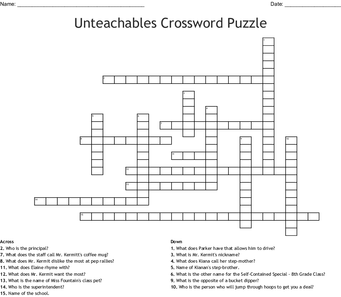 Unteachables Word Search