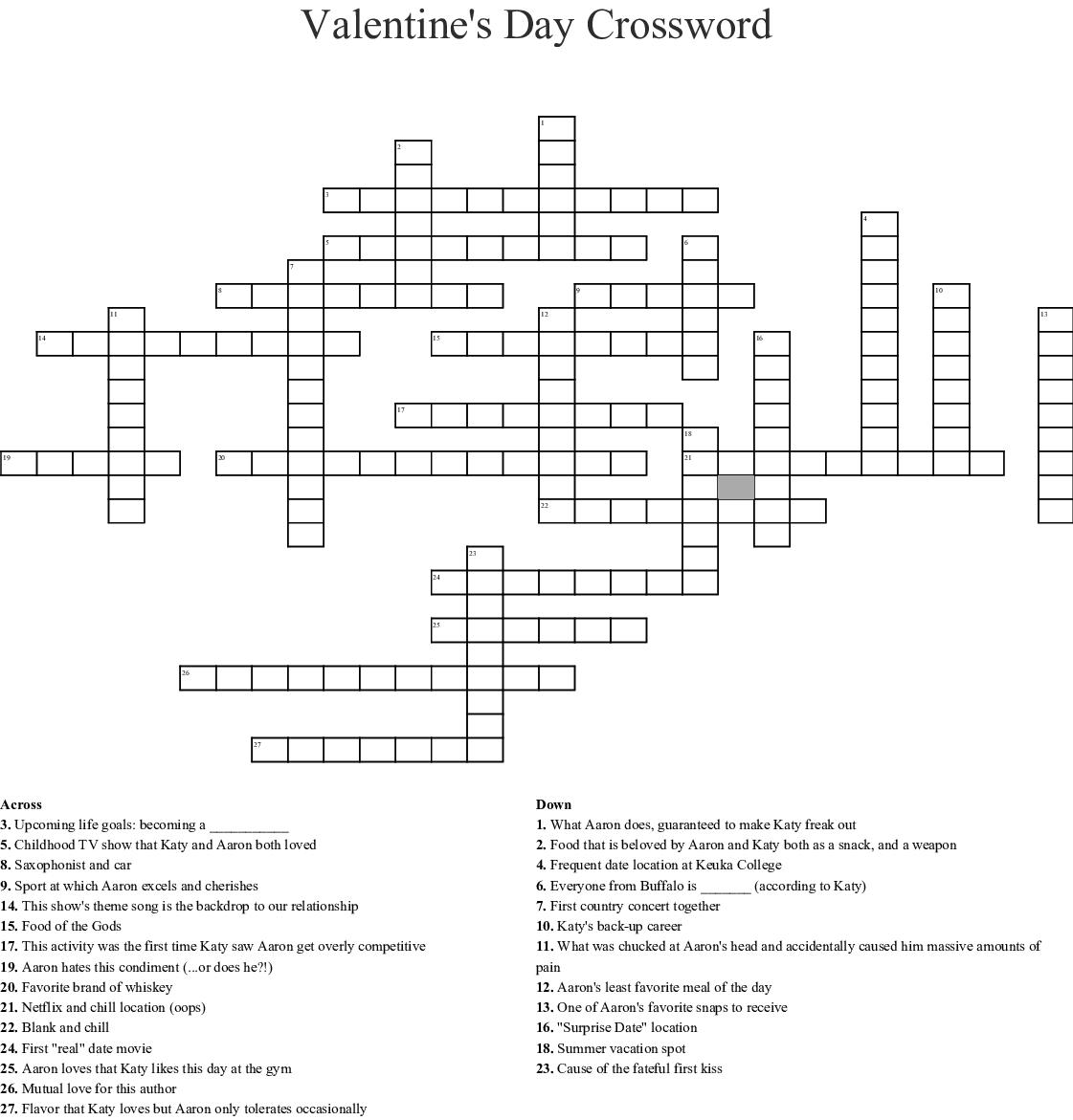 Constitution Day Crossword
