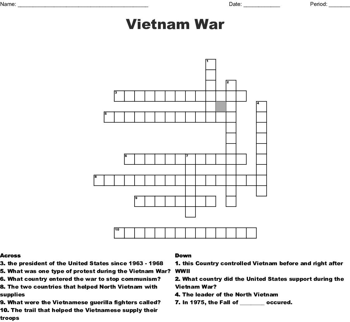 Vietnam War Worksheets Origins Of The Cold War