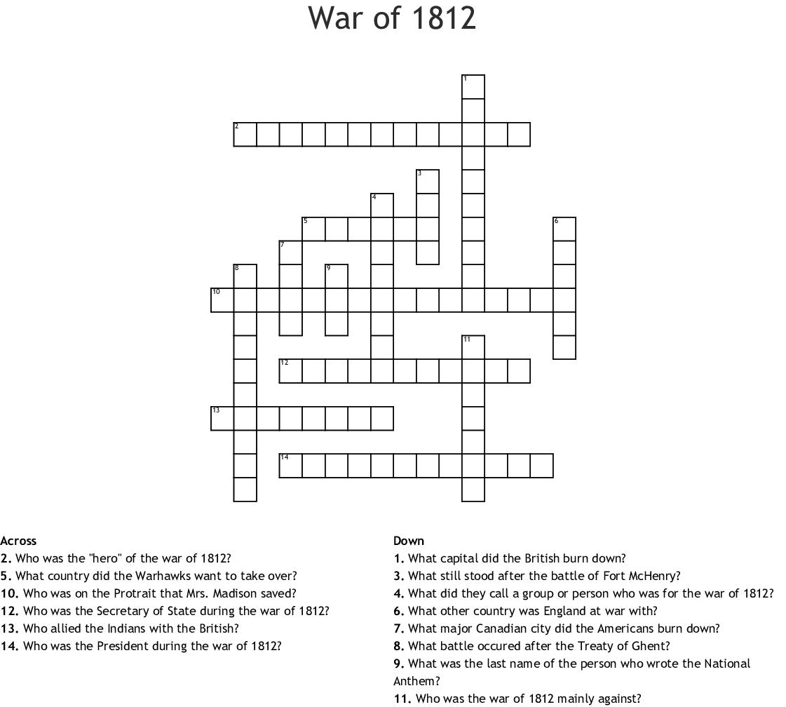 History Worksheet