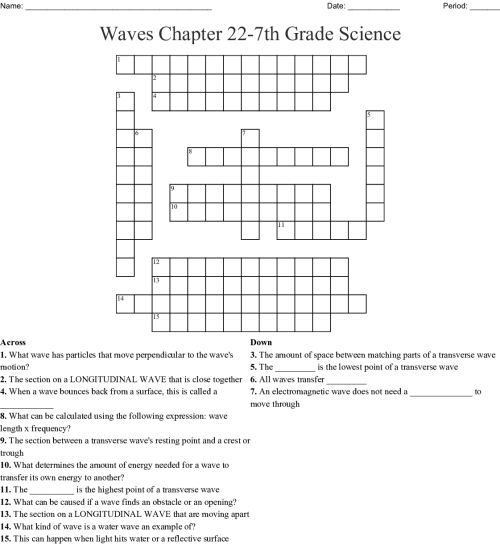 small resolution of Transverse And Longitudinal Waves Worksheet   Printable Worksheets and  Activities for Teachers