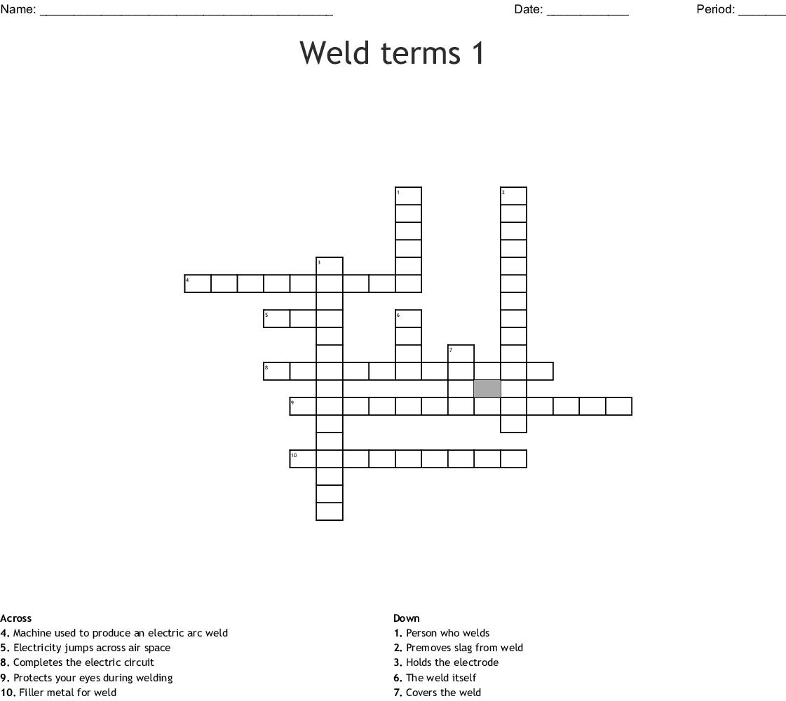 Wire Welding Crossword