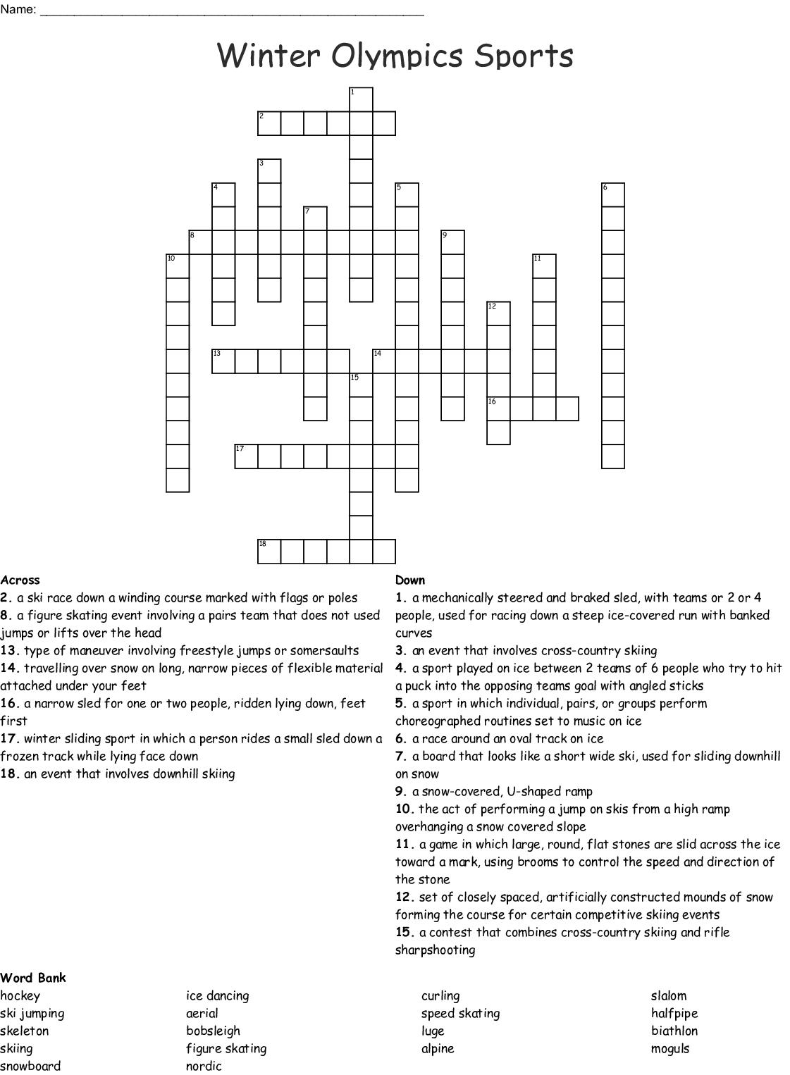 Skating Word Search