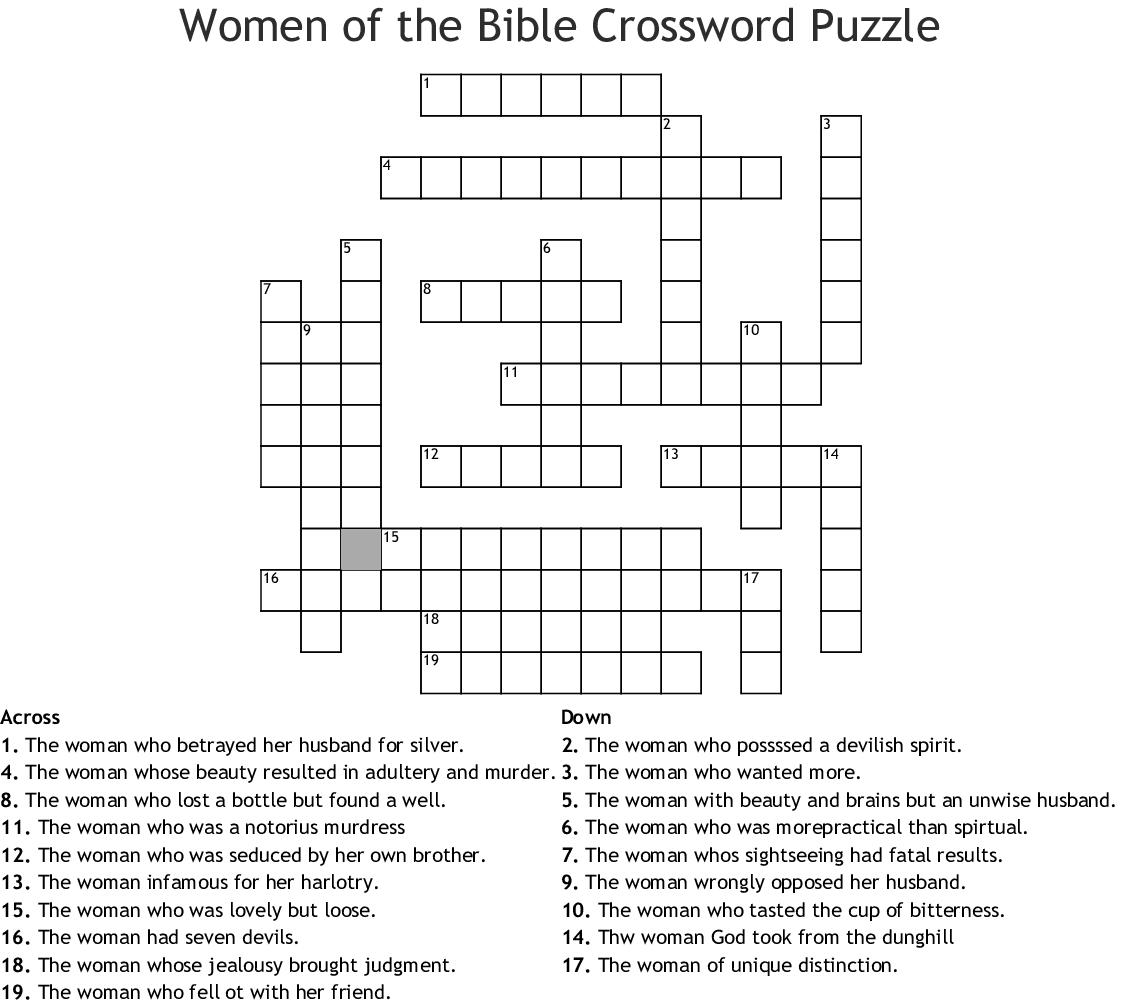Women In The Bible Worksheet