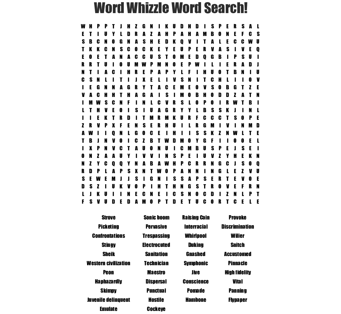 The Watsons Go To Birmingham Crossword
