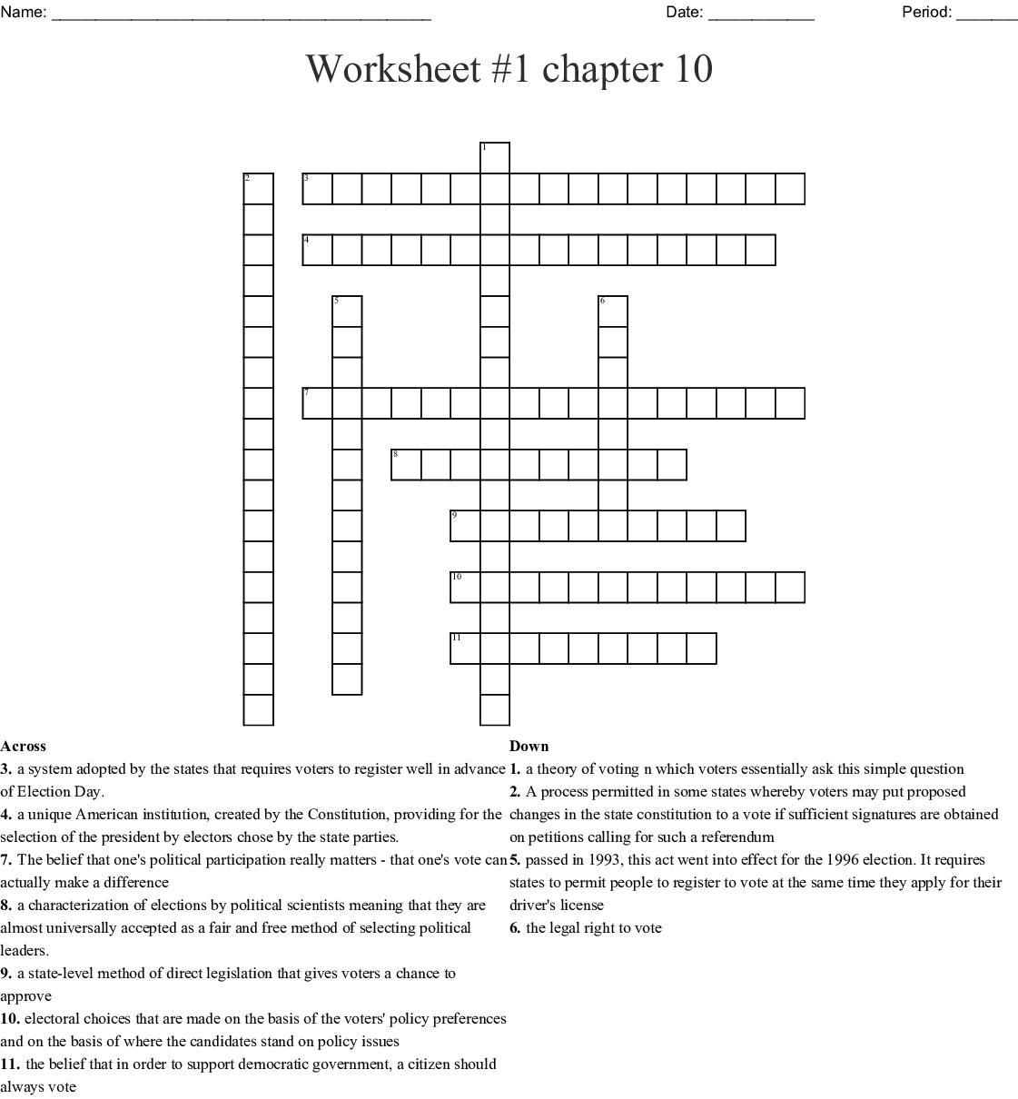 Bestseller Chapter 10 Worksheet