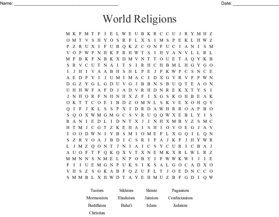 Belief Systems Worksheet
