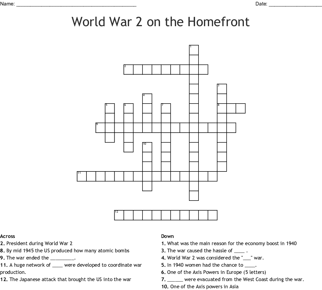 Atomic Crossword
