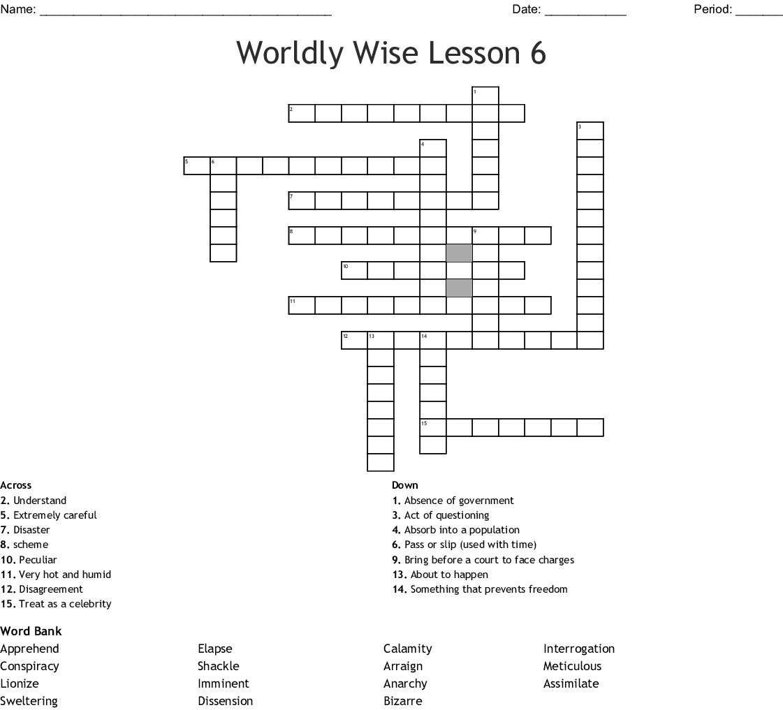 Imminent Disaster Crossword