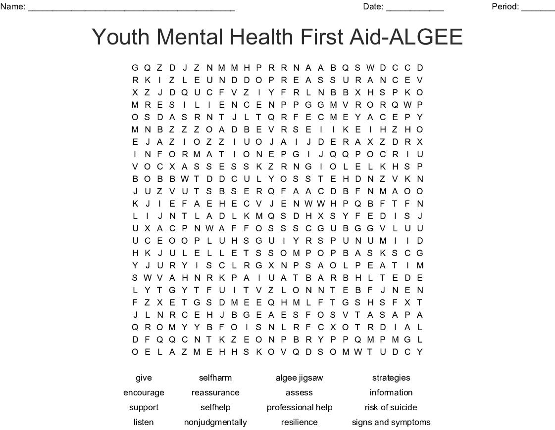 Mental Health First Aid Algee