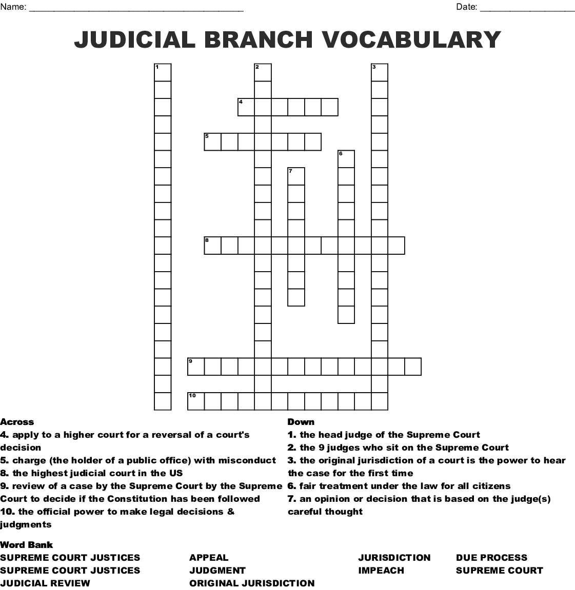 Bestseller Appellate Court Crossword Puzzle Answers Icivics