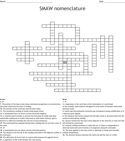 small resolution of smaw nomenclature crossword