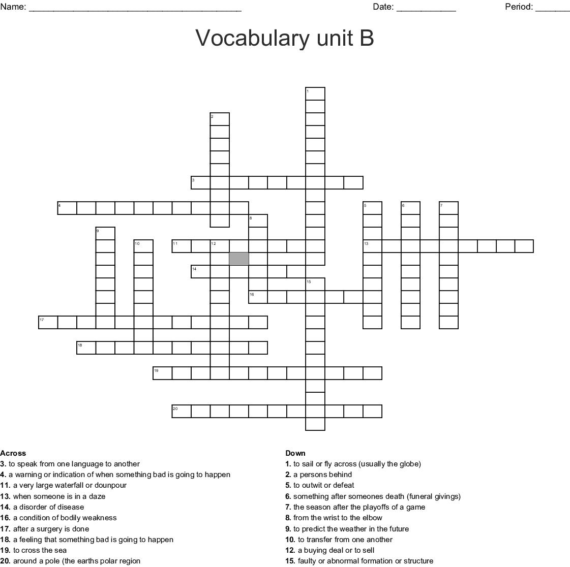Similar To Daija S Prefix Vocabulary Crossword Puzzle