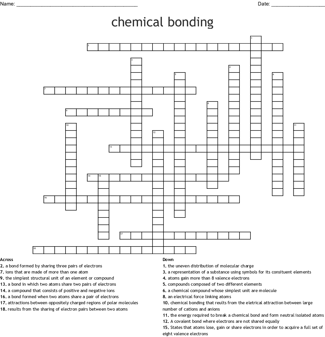Worksheet Chemical Bonding Ionic And Covalent