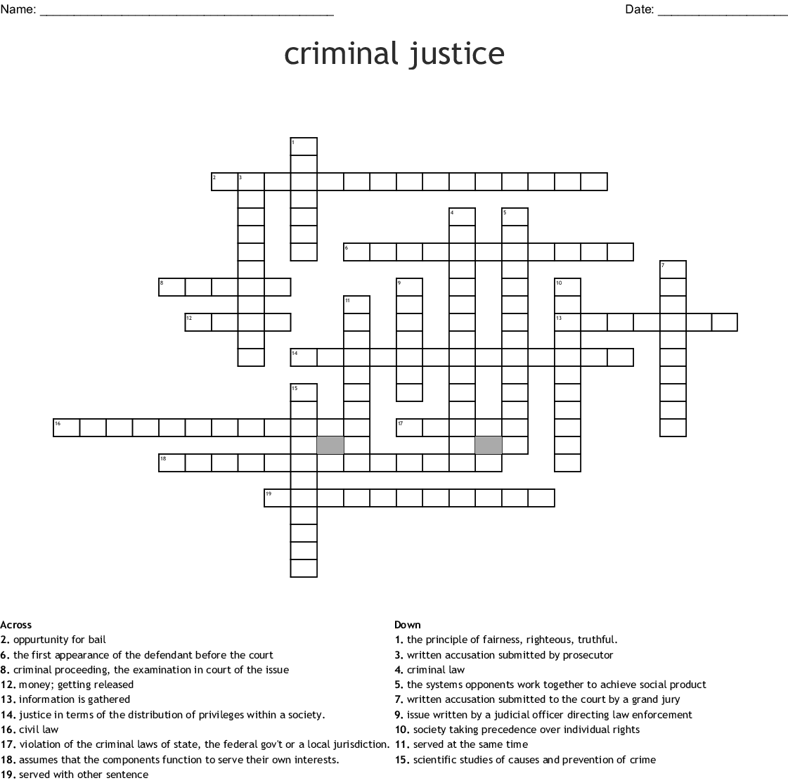 Law Enforcement Word Search