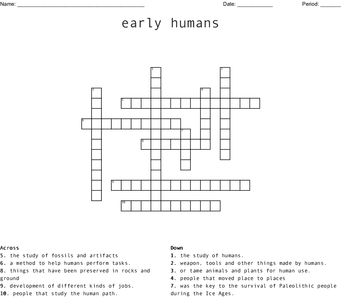 The Beginning Of Civilizations Crossword