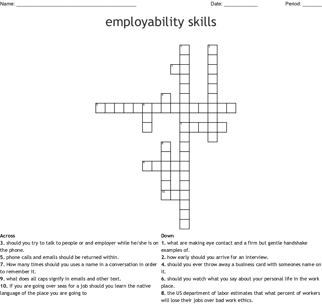 Career Resources Amp Planning Crosswords Word Searches
