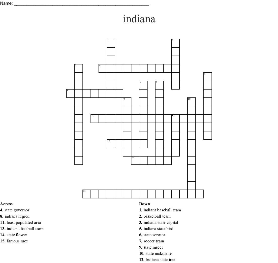 Similar To Indiana Worksheet