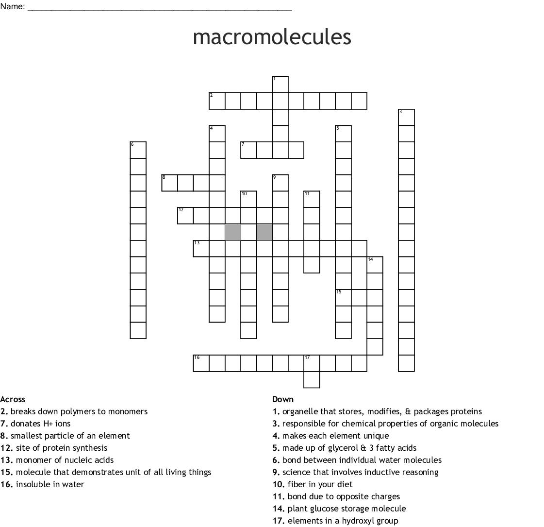 Biochemistry Crossword