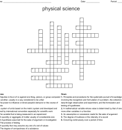 physical science crossword [ 1121 x 1134 Pixel ]