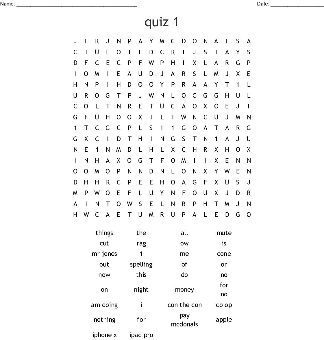 Fun Amp Trivia Crosswords Word Searches Bingo Cards