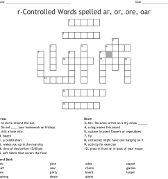 Or Ore Oar Ar Worksheets   Printable Worksheets and Activities for  Teachers [ 1154 x 1121 Pixel ]